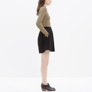 Madewell Black Pleated Countdown Skirt